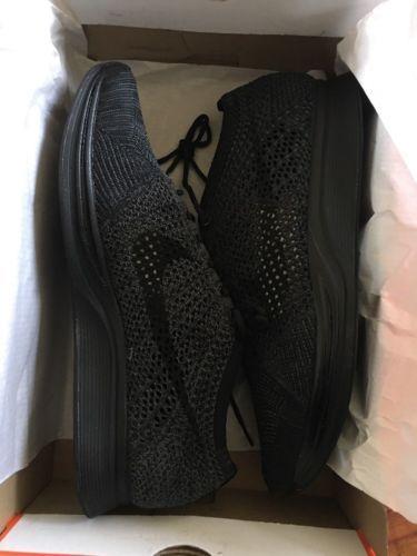 8c7a512945c NIKE FLYKNIT RACER TRIPLE BLACK ANTHRACITE 526628 009 Size 13 · Nike  Flyknit RacerTriple BlackMen s Shoes
