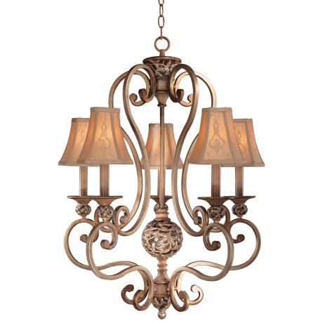jessica mcclintock s salon grand five light chandelier lighting