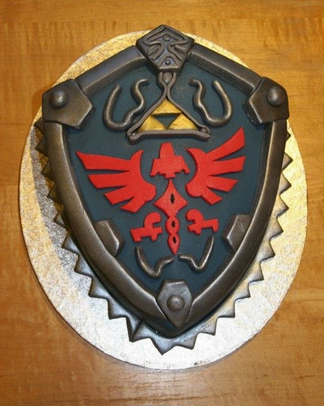 Image result for zelda shield cake