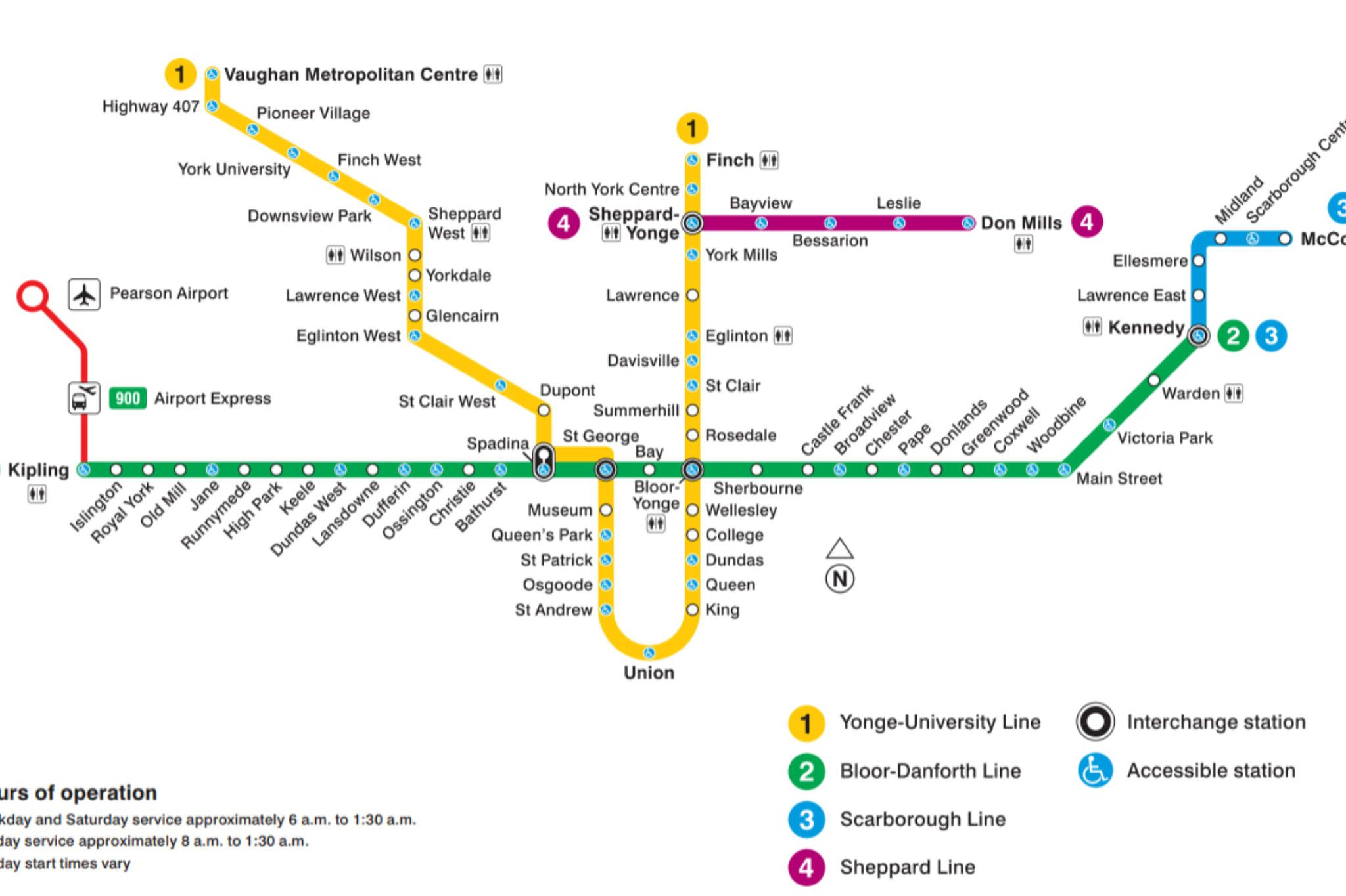 Subway Map Toronto Canada.Ttc Subway Map 2019 Blogto Subway Map Nyc Subway Map Toronto Subway