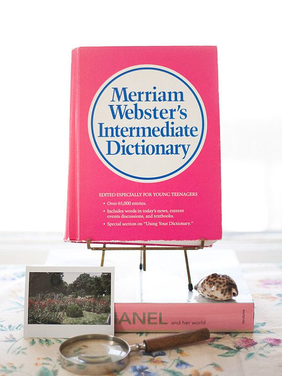 Vintage Hot Pink Merriam Webster Dictionary By Alovelybeing 3200