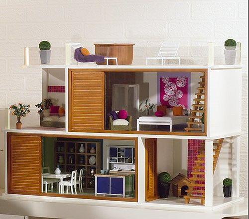 Dollhouse Casas Para Barbies Muebles De Casa De Munecas Casa Moderna De Munecas