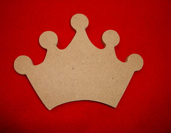 Unfinished Princess Crown Unfinished Mosaic Base Craft by zzbob, $6.50