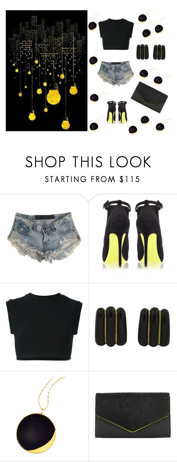 """""""Black and Yellow"""" by isychloe ❤ liked on Polyvore featuring beauty, One Teaspoon, Carvela Kurt Geiger, adidas Originals, Andrew Clunn, Lana and Paul's Boutique"""