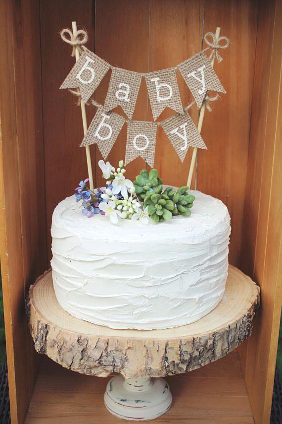Baby Boy Cake Topper, Baby Boy Banner, Its A Boy, Baby Boy Shower Cake  Topper, Rustic Baby Boy Shower, Baby Shower Decor, Boy Announcement