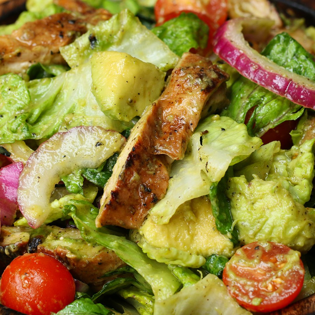 Honey-lime Chicken And Avocado Salad Recipe by Tasty