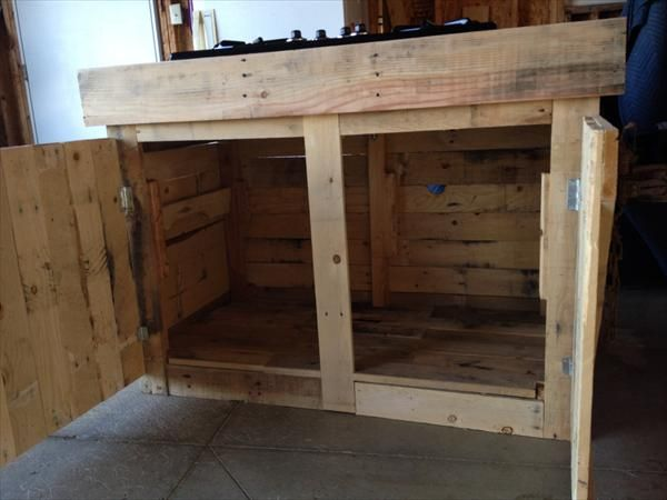 DIY Pallet Cabinet Design | Pallet Furniture Plans | pallet ...