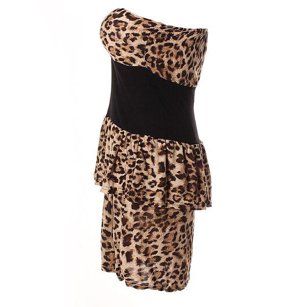 Sweatheart Colorblock Peplum Dress