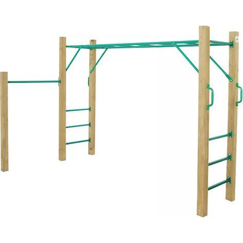 Amazon Monkey Bar Set W Wooden Post Play Equipment Monkey Bars Diy Monkey Bars Backyard Swing Sets
