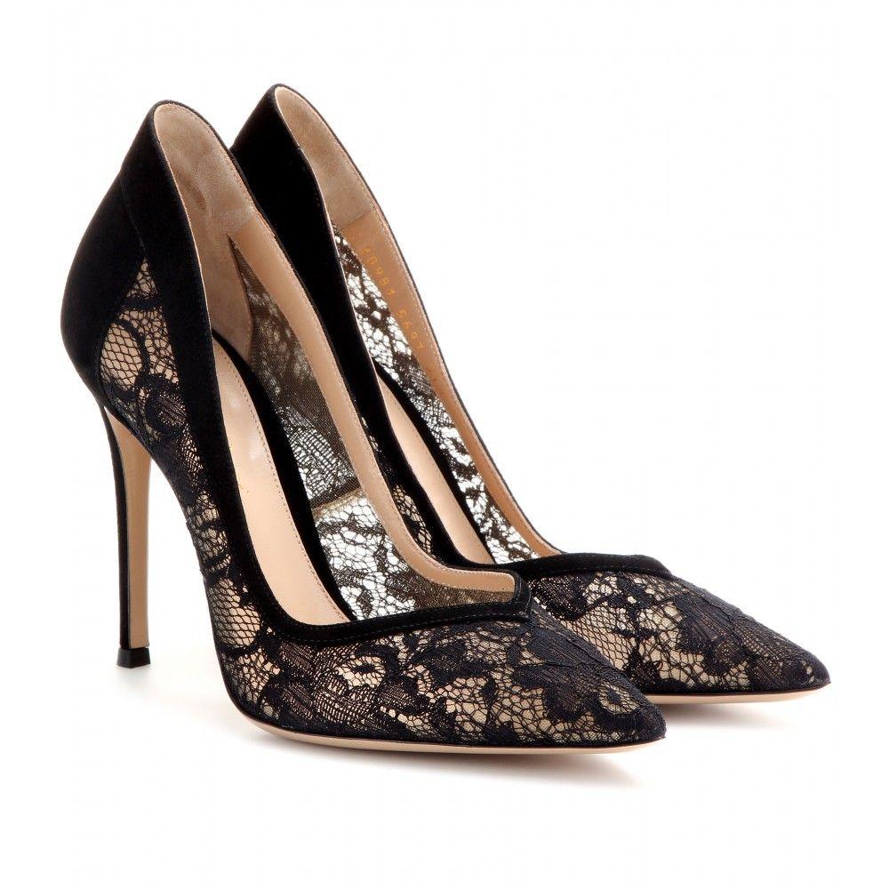 mytheresa.com - rendas e camurça bombas - Moda Luxo para mulheres / roupa de grife, sapatos, bolsas