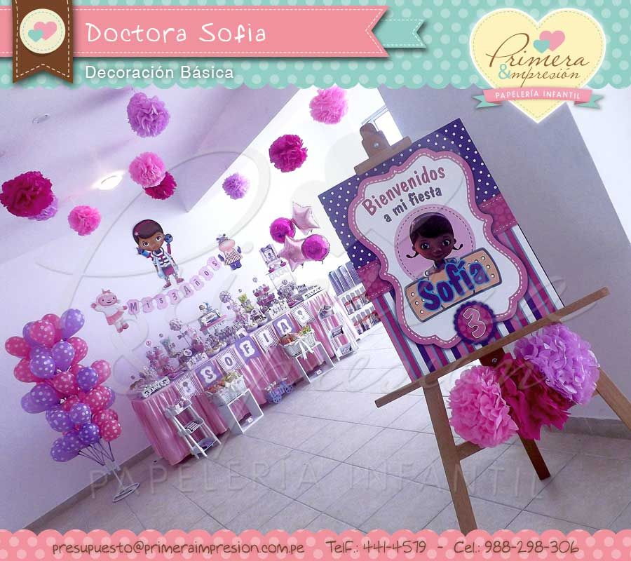 Mesa decorada de doctora juguetes doctora juguetes party - Articulos sobre decoracion ...