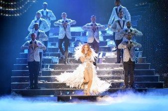 "Jennifer Lopez performs her resident show, ""All I Have,"" at Planet Hollywood Resort in Las Vegas. Photo credit: Denise Truscello"