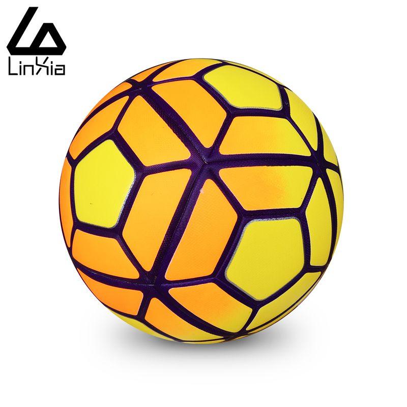Hot 2016 Maat 5 Maat 4 Naadloze PU Voetbal Bal Champions League antislip Korrels Voetbal Hoge Kwaliteit voor Match