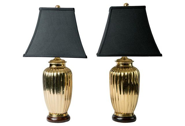 Vintage Art Deco-Style Brass Table Lamps, Pair and more from @madcapcottage on @onekingslane onekingslane.com/shop/madcapcottage