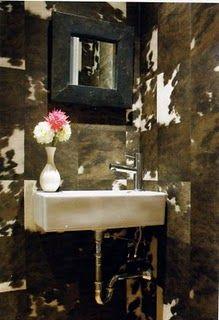 Trove Interiors Cowhide Wallpaper Cow Hide Rug Cowhide Furniture Cowhide