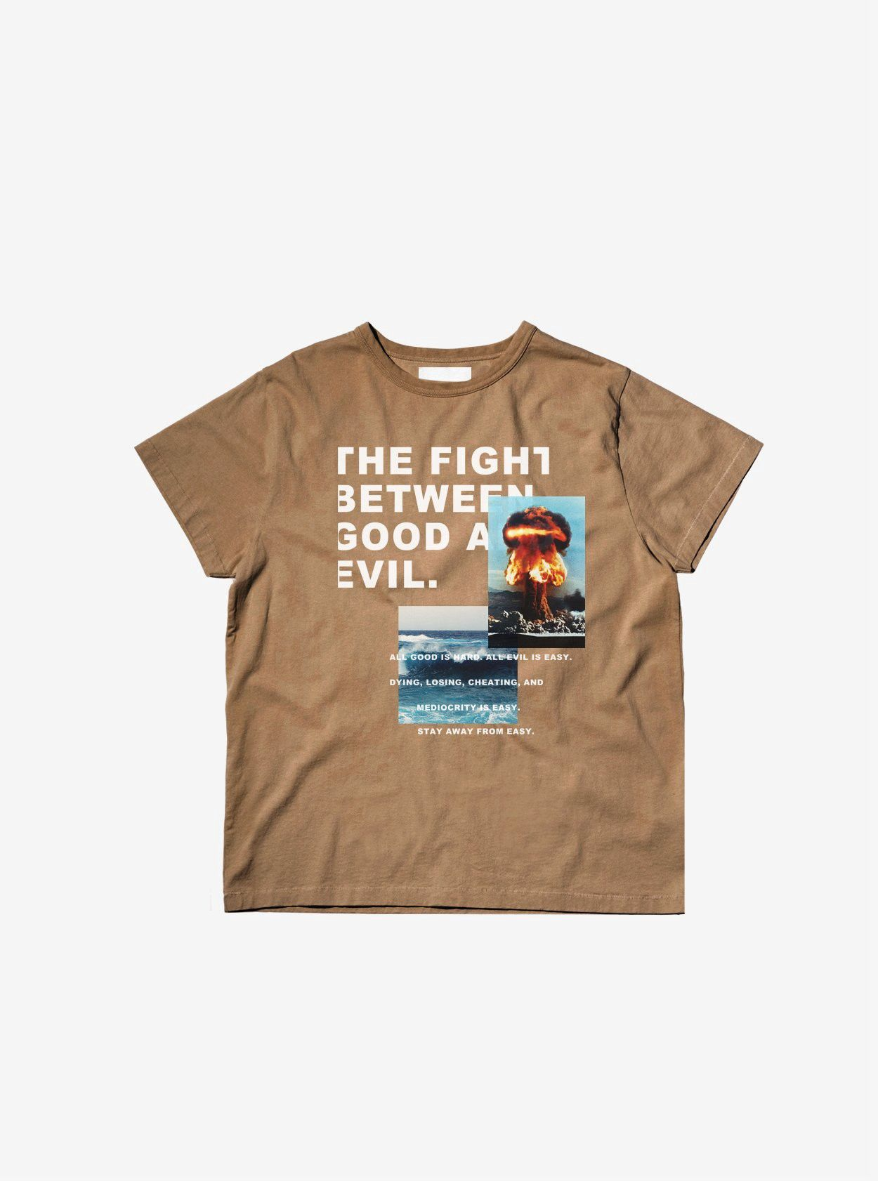 ac30813e8 Profound Aesthetic Fight Between Good/Evil Graphic Tee In Camel - X-Large