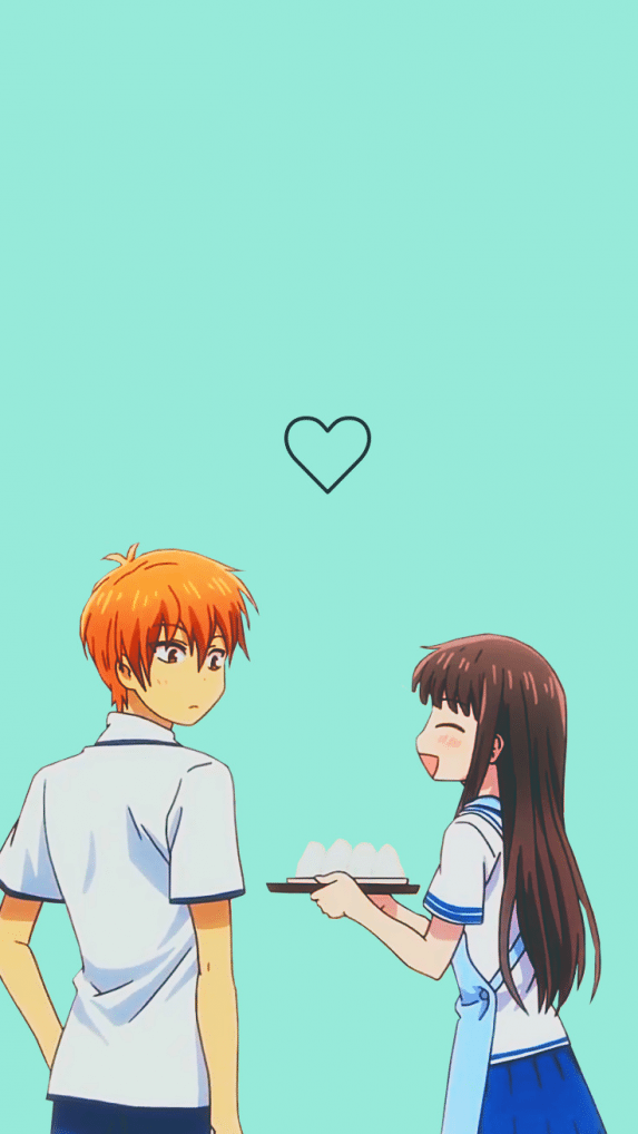 Kyo And Tohru Wallpaper Wallpaper Couple In 2020 Fruits Basket Anime Fruits Basket Fruits Basket Manga