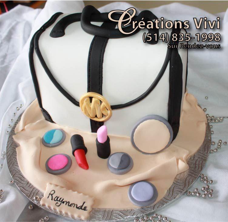 gâteau d'anniversaire sac a main mk | créations vivi | pinterest