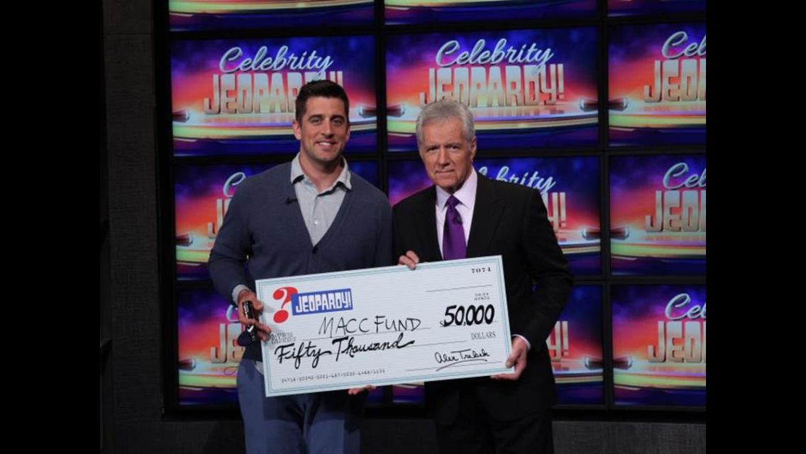 Aaron Rodgers kills it on Celebrity Jeopardy and MACC fund