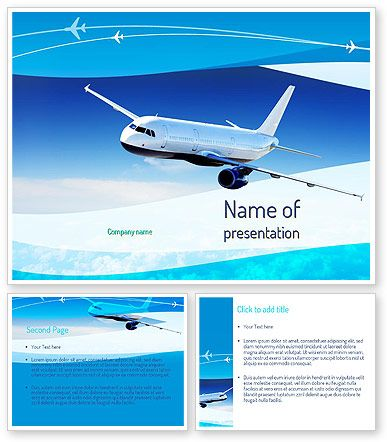 Airplane in the sky powerpoint template httppoweredtemplate airplane in the sky powerpoint template toneelgroepblik Images