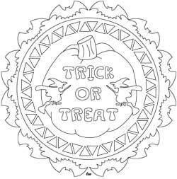 Trick Or Treat Halloween Mandala Coloring Page Mandala Coloring Pages Coloring Pages Halloween Coloring