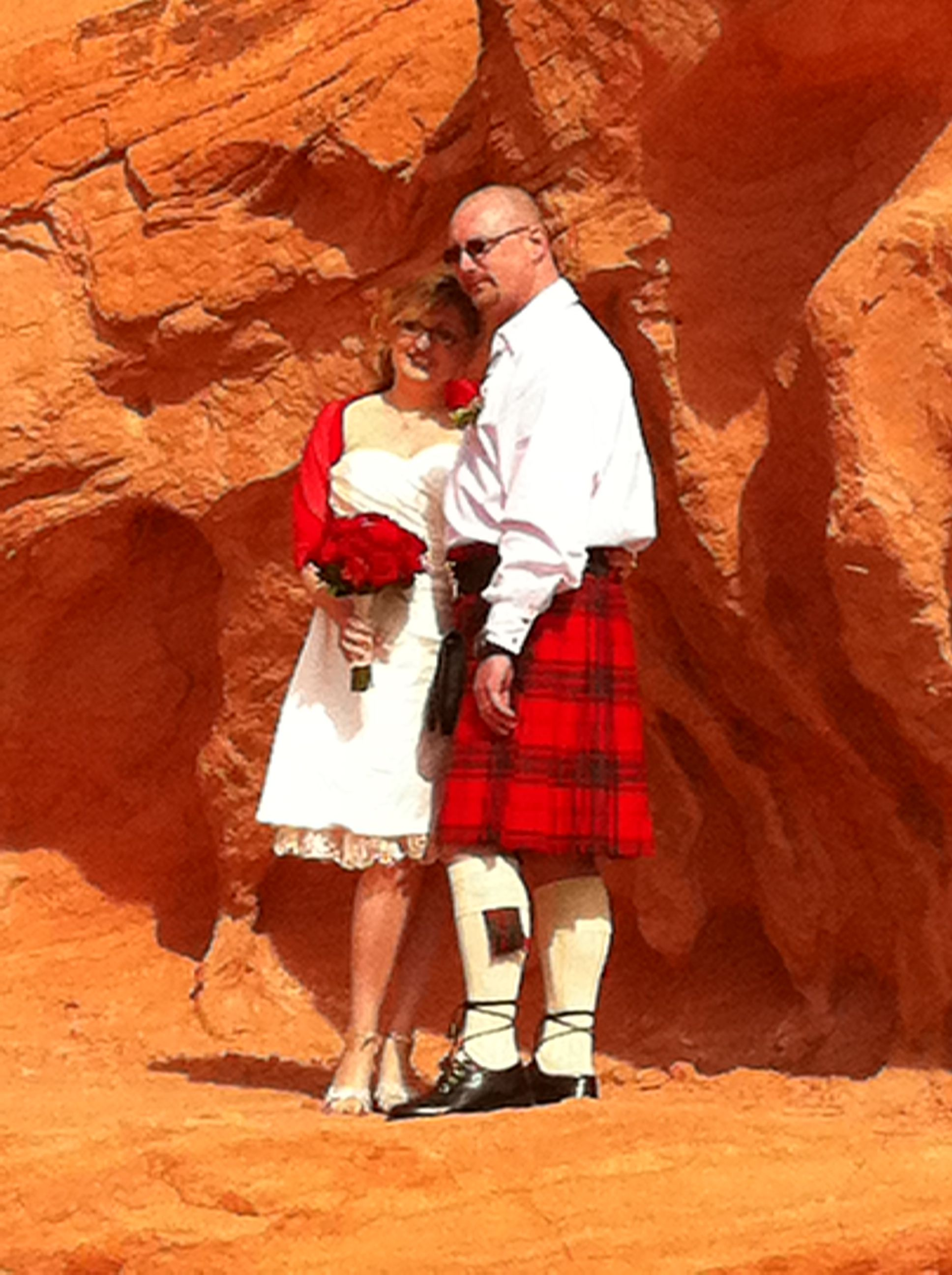 Our wedding at seven sisters, Valley of Fire, Nevada