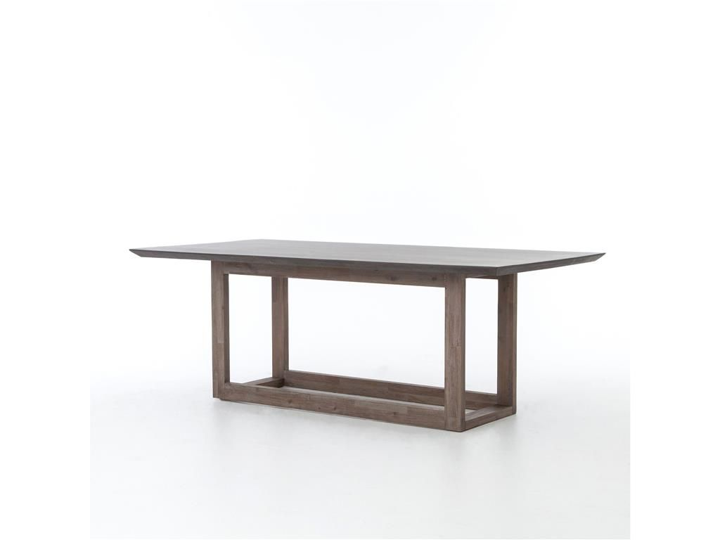 Four Hands Kitchen Marren Dining Table 60 Blk Lavastone Be Vcns F031 Bob Mills Furniture Oklahoma City Okc Dining Table In Kitchen Dining Table Furniture