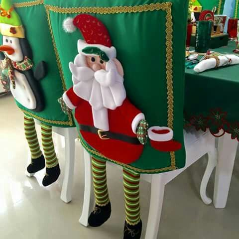 Cubresillas adornos navide os navidad cubresillas y - Adornos navidenos para sillas ...