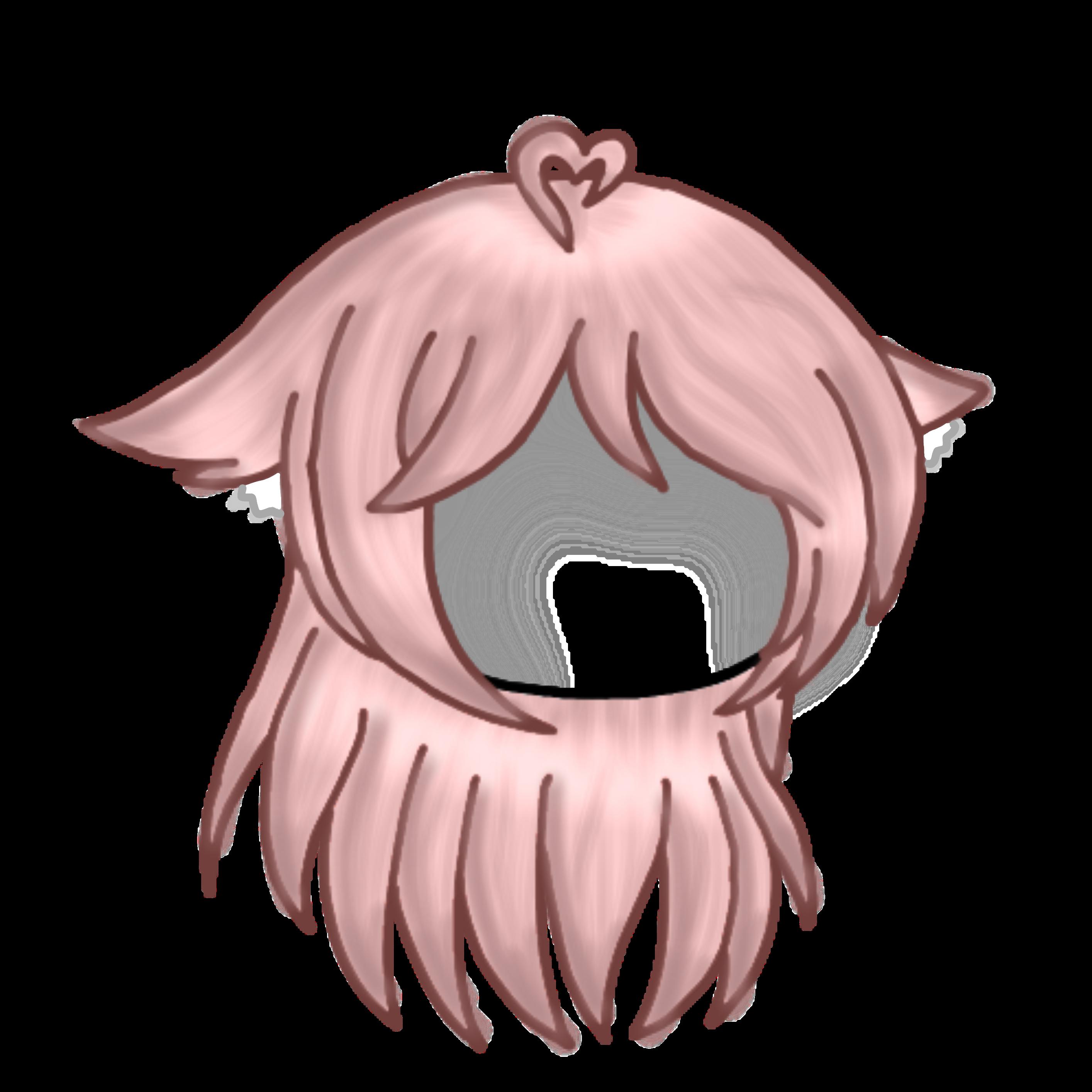 Custom Gacha Hair Gachlife Customhair Pink Cute Heart Gachacustomhair Gachahaif Customgachalifshair Hopey Chibi Hair Drawing Anime Clothes Anime Hair