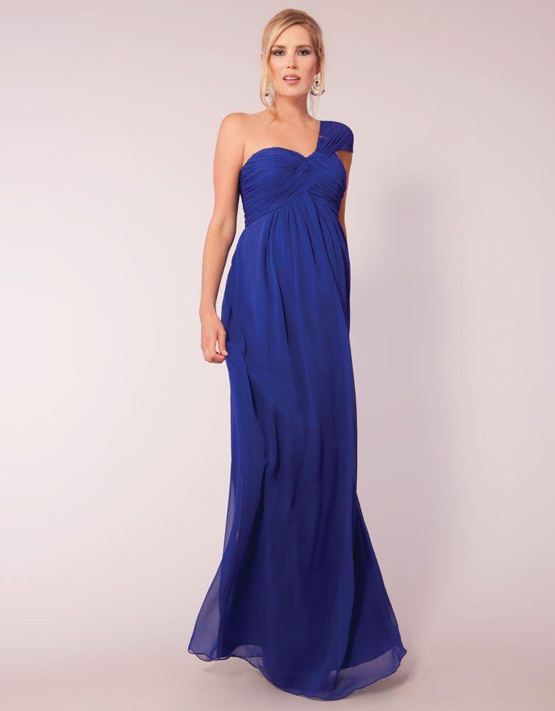 robe de grossesse longue bleue seraphine grossesse. Black Bedroom Furniture Sets. Home Design Ideas