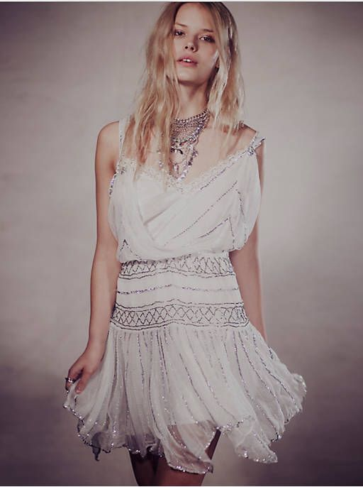Free People Ode To Tea Shimmer Dress, $250.00