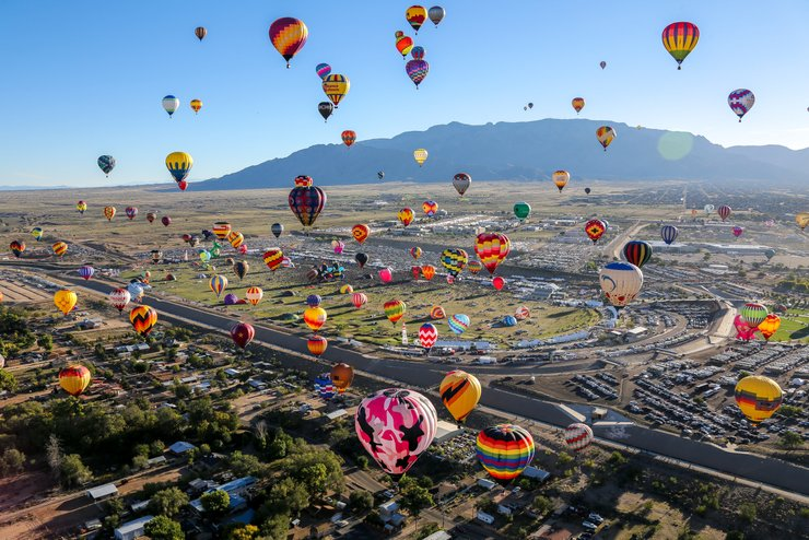 Albuquerque International Balloon Fiesta 2021 in New