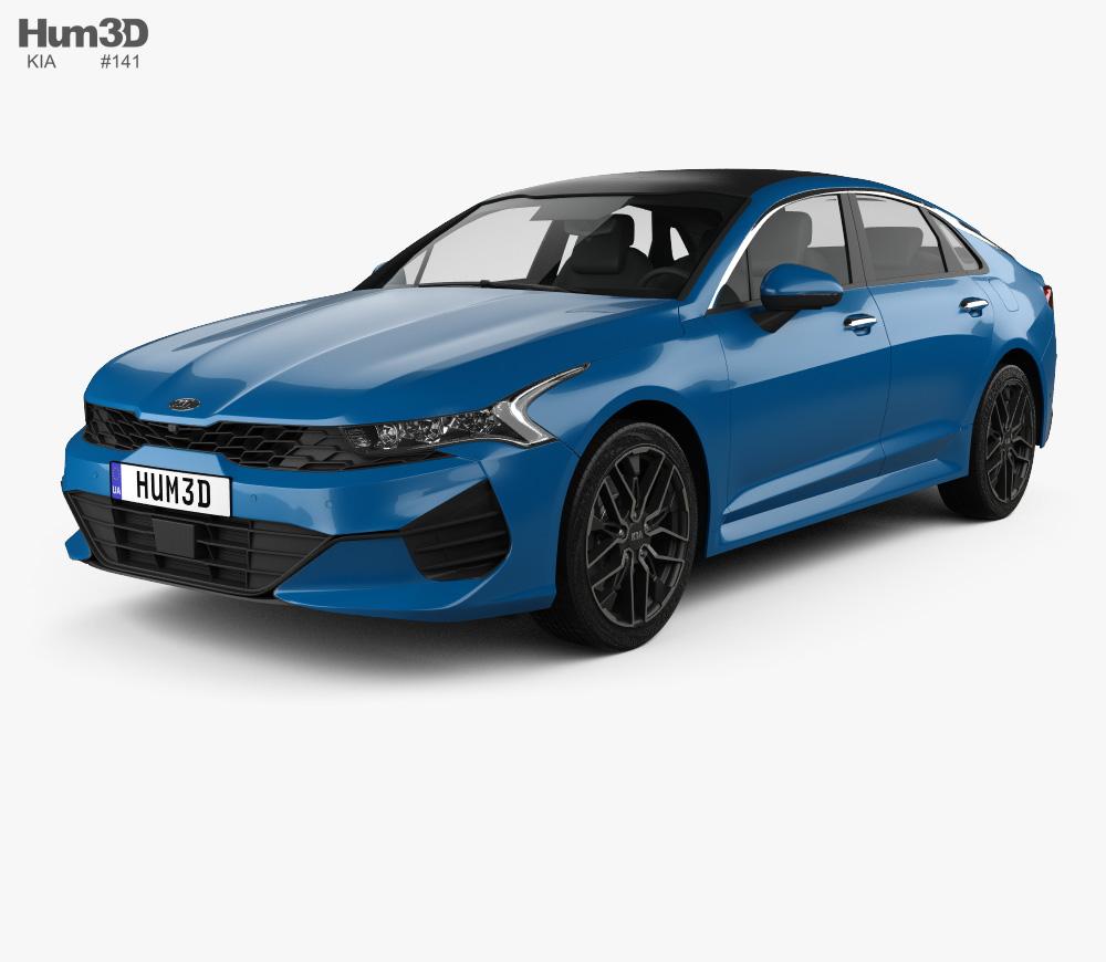 3d Model Of Kia K5 2020 In 2020 3d Model Kia Car 3d Model