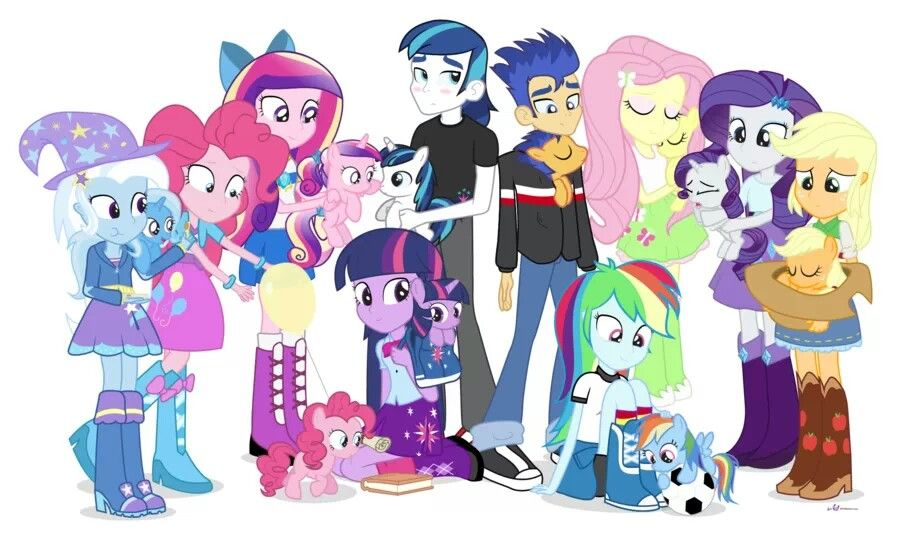 Equestria Girl....oh my goodness this is so adorable! Look at Pinkie! And Shining and Cadance!