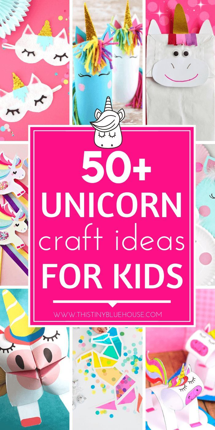 60 Gorgeous & Easy Unicorn Crafts For Kids #unicorncrafts