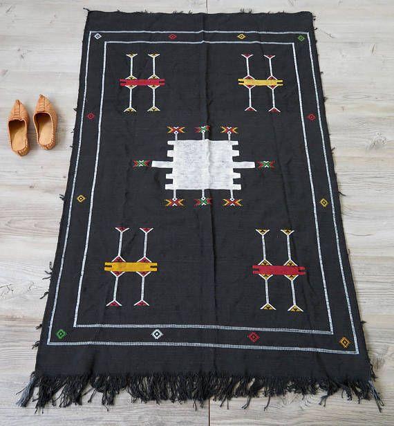Veterans Day Sale Moroccan Cactus Sabra Silk Rug Or Wall Hanging