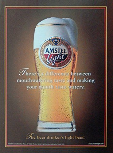 Amstel Light Beer Vintage Print Ad Color Illustration Http