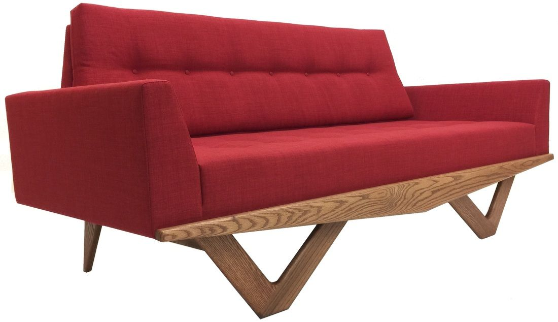 Hand Crafted By Us Atomic Chair Company Astro Sofa With Arms 80