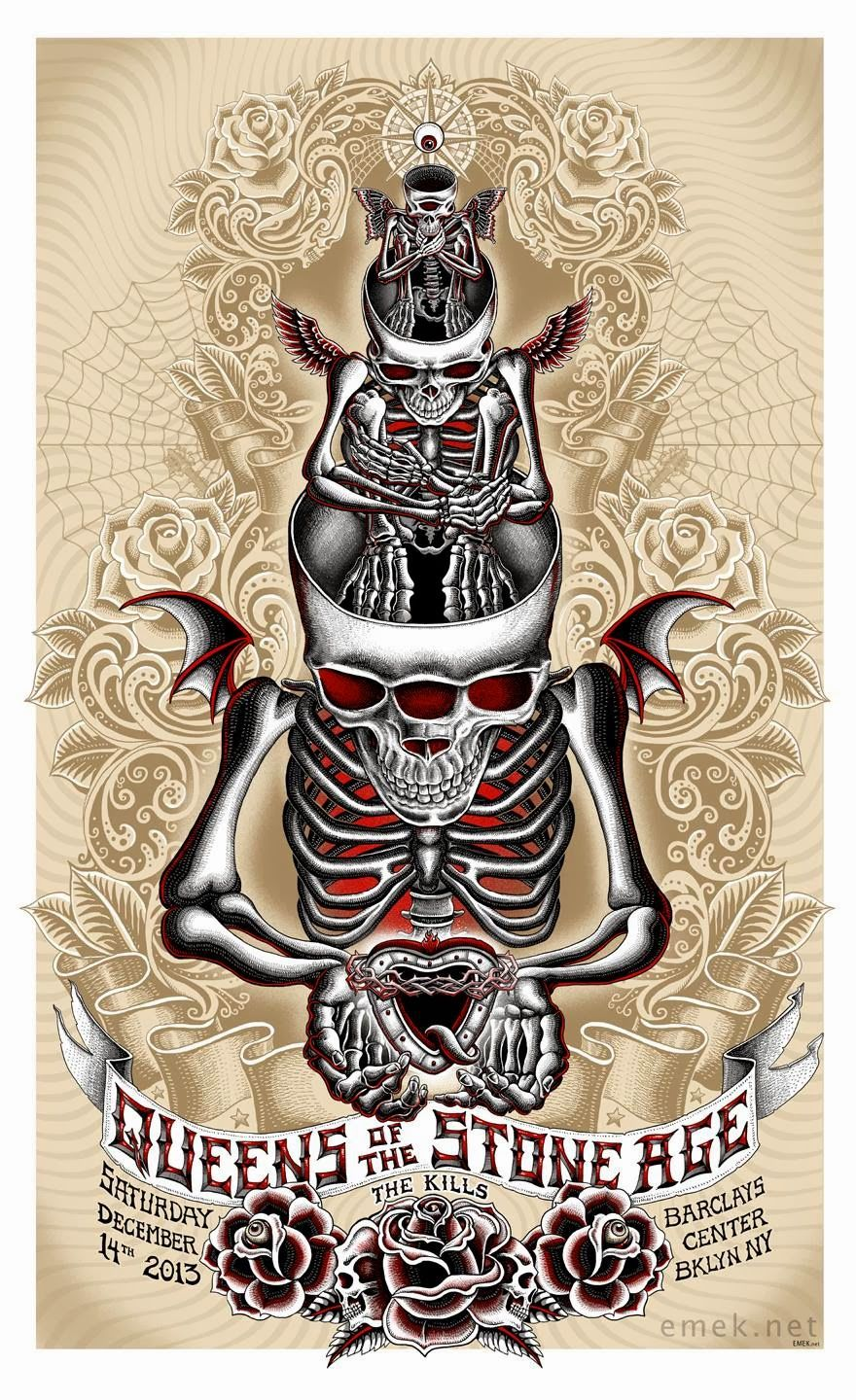 Queens of the Stone Age Concert Mini Poster 2 sizes to pick from reprint photo