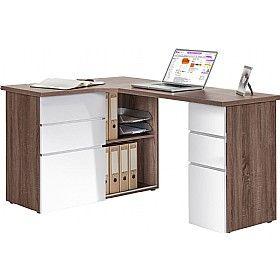 radcliff corner computer desk truffle oak home office space rh pinterest com