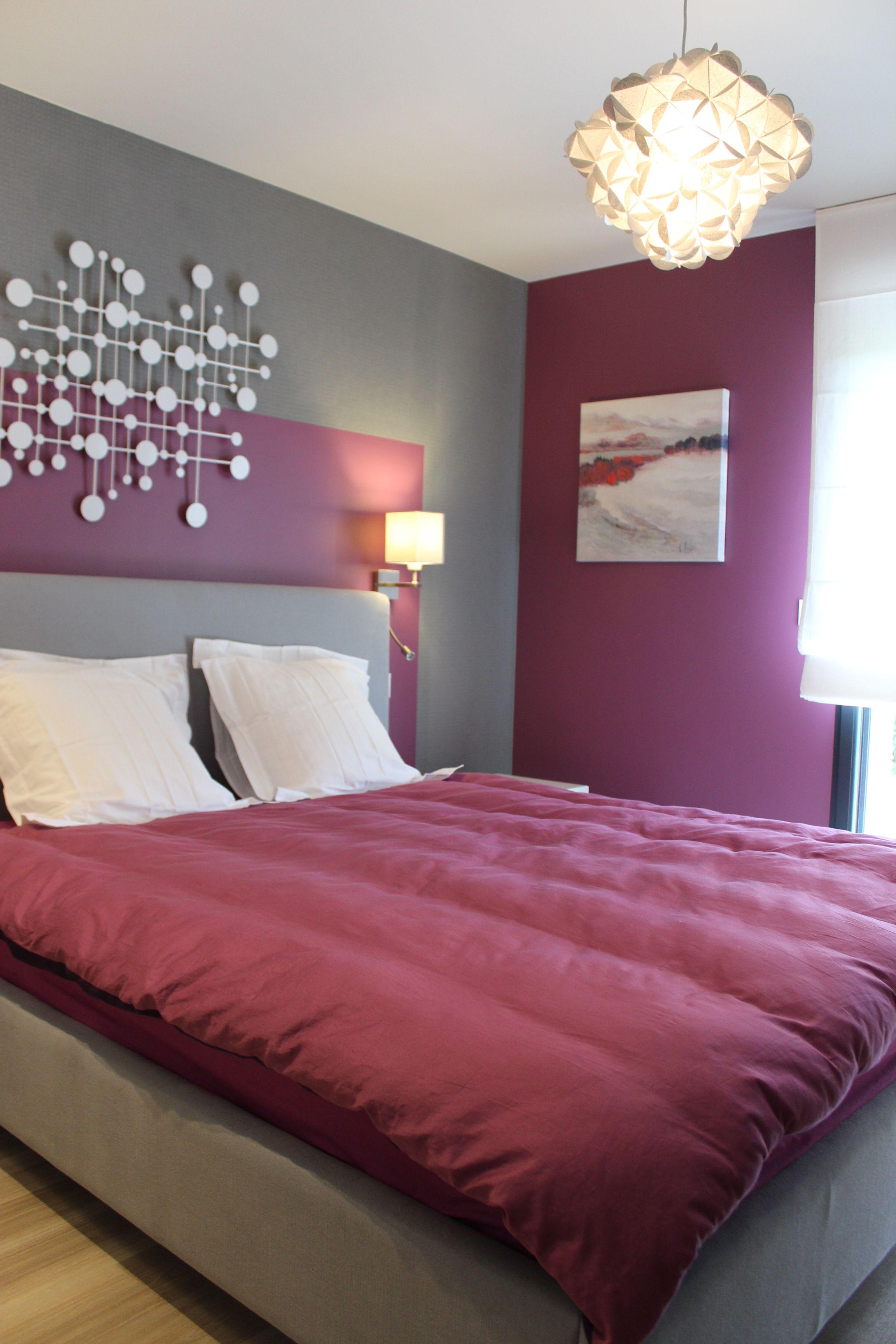 d coration chambre chambre design chambre color e d coration violet chambre gris. Black Bedroom Furniture Sets. Home Design Ideas