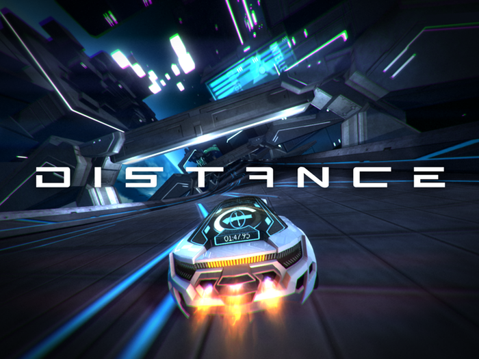 Distance is a survival racing game that combines the