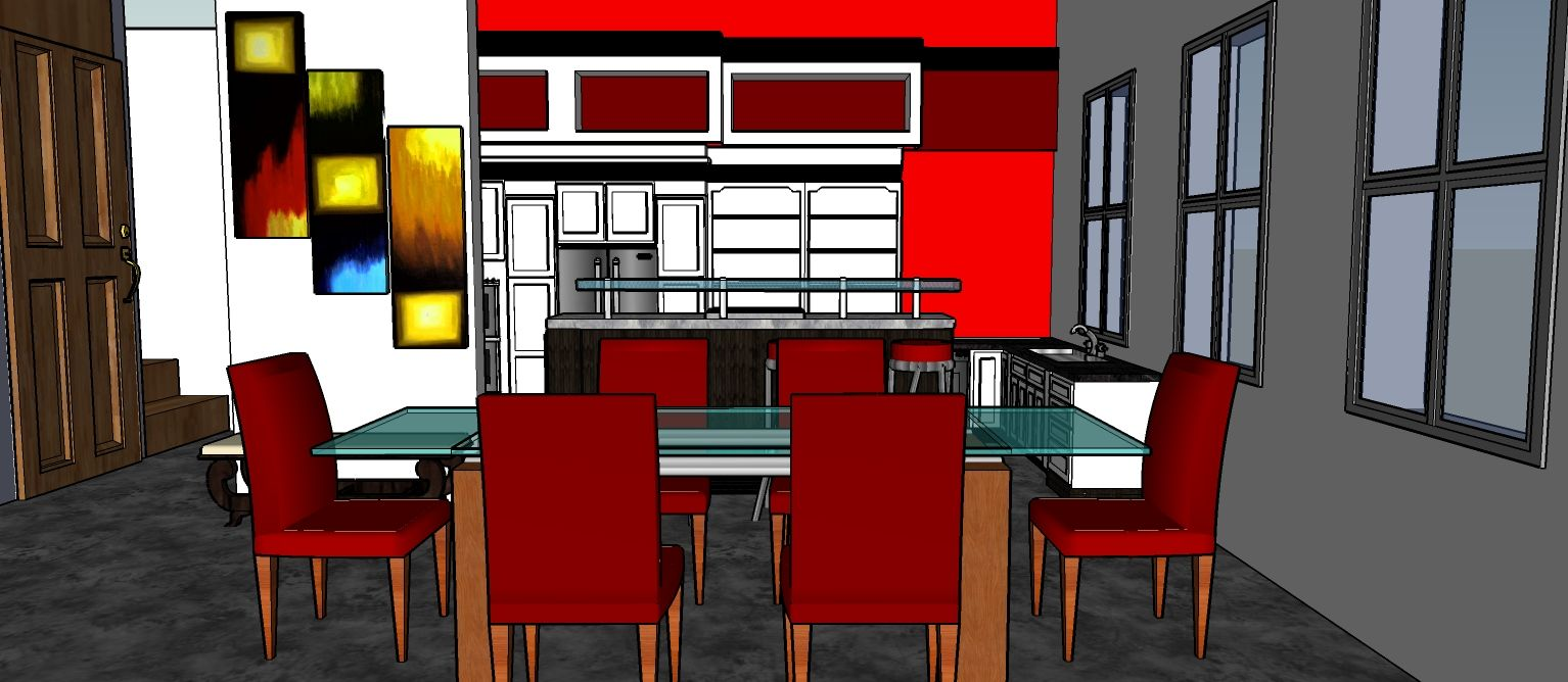 KITCHEN DESIGN BY ME using SketchUp | Home decor, Kitchen ...