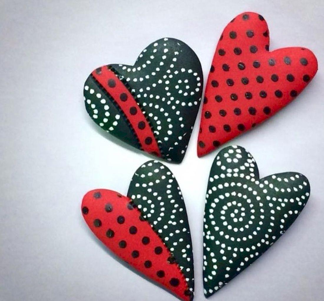 80 Romantic Valentine Painted Rocks Ideas Diy For Girl 3 Painted Rocks Rock Crafts Diy For Girls