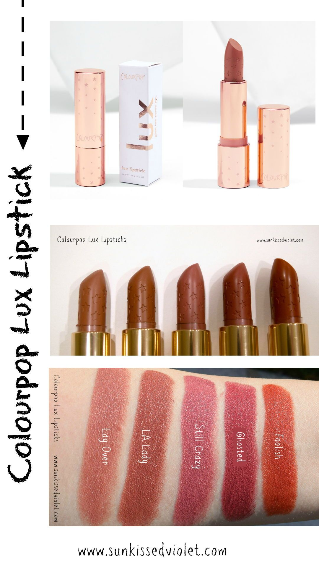 Colourpop Lux Lipsticks: Swatches, Reviews And Dupes
