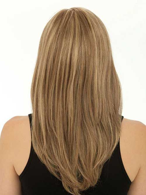 Straight Layered Haircut Back View | Hair From Behind | Pinterest ...