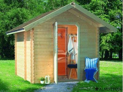 Sauna D Extérieur sauna d'extérieur saunahaus 3 en bois, 3 places allongées, épaisseur
