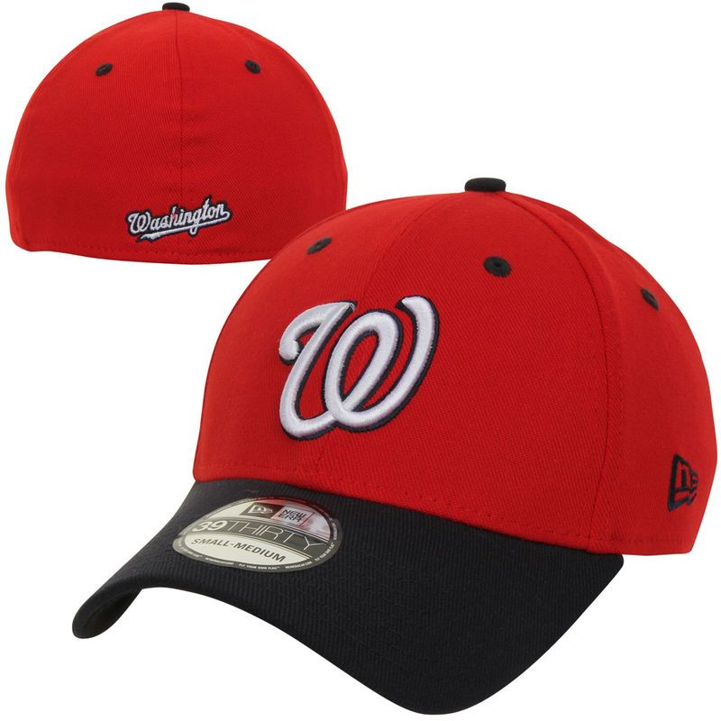 4a8ac935e40 Washington Nationals New Era MLB Team Classic Alternate 39THIRTY Flex Hat -  Red Navy