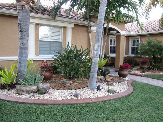 front yard landscaping with rocks ideas
