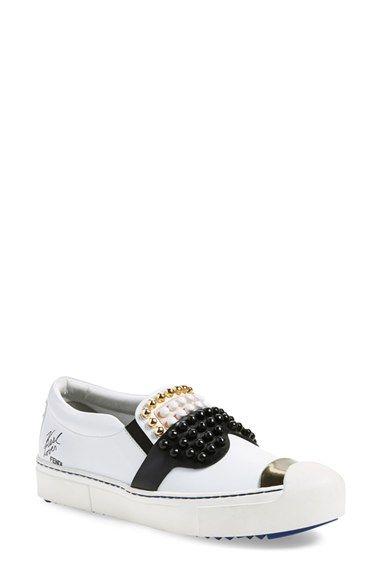 Fendi  Karlito  Slip-On Sneaker (Women)  c75a7d9e569